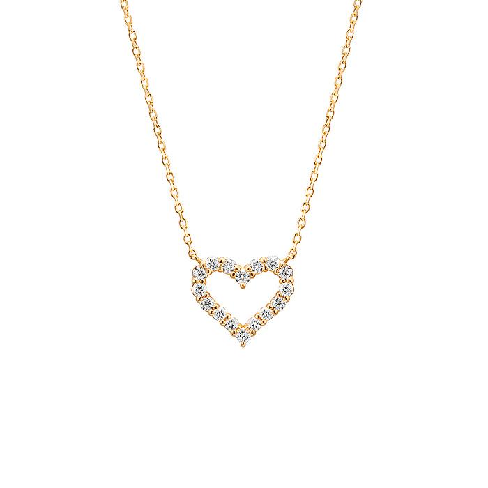 ダイヤモンドオープンハートネックレス