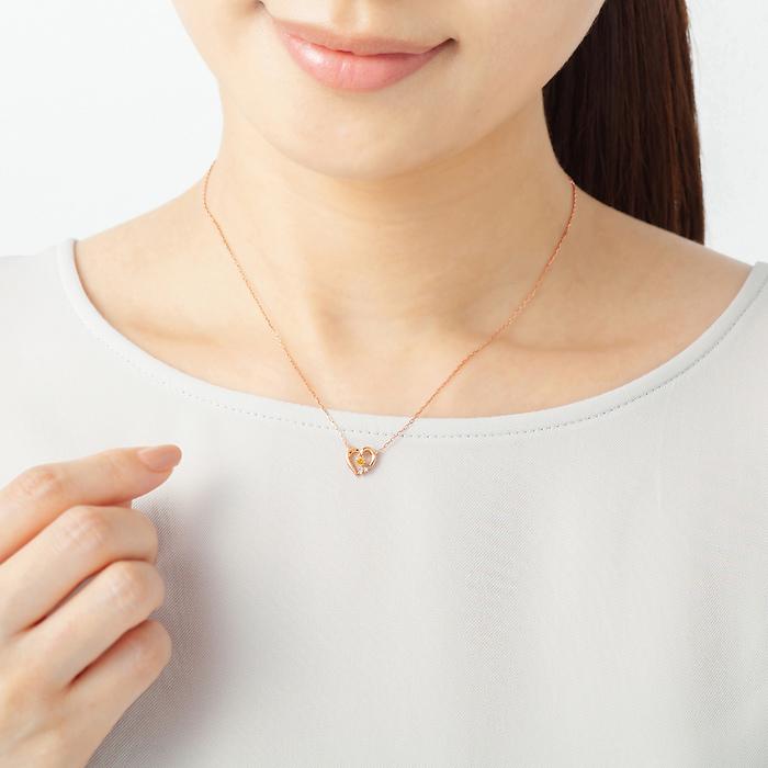 【11月誕生石】K10ピンクゴールド ネックレス