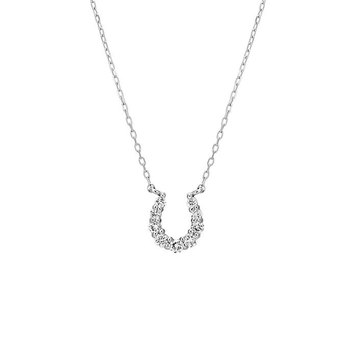 K18ホワイトゴールドネックレス プレゼント