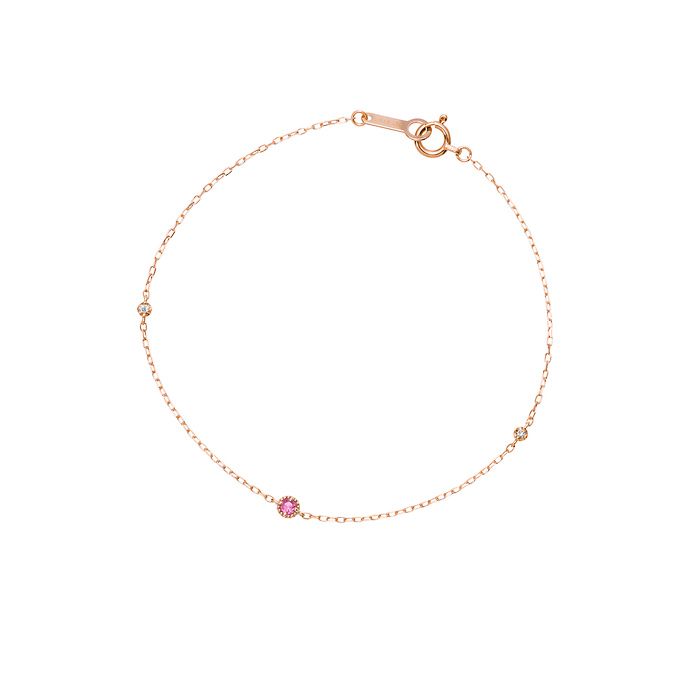 【10月誕生石】K10ピンクゴールドブレスレット プレゼント