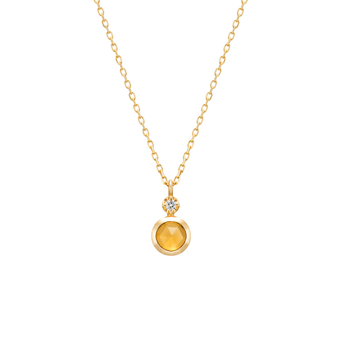 【11月誕生石】K10イエローゴールドネックレス プレゼント