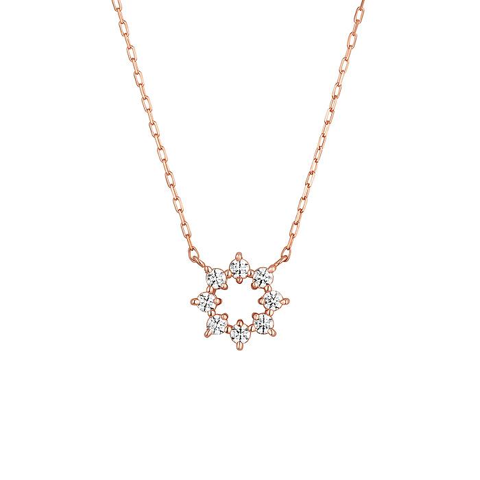 K10クリスタルローズゴールド ネックレス プレゼント