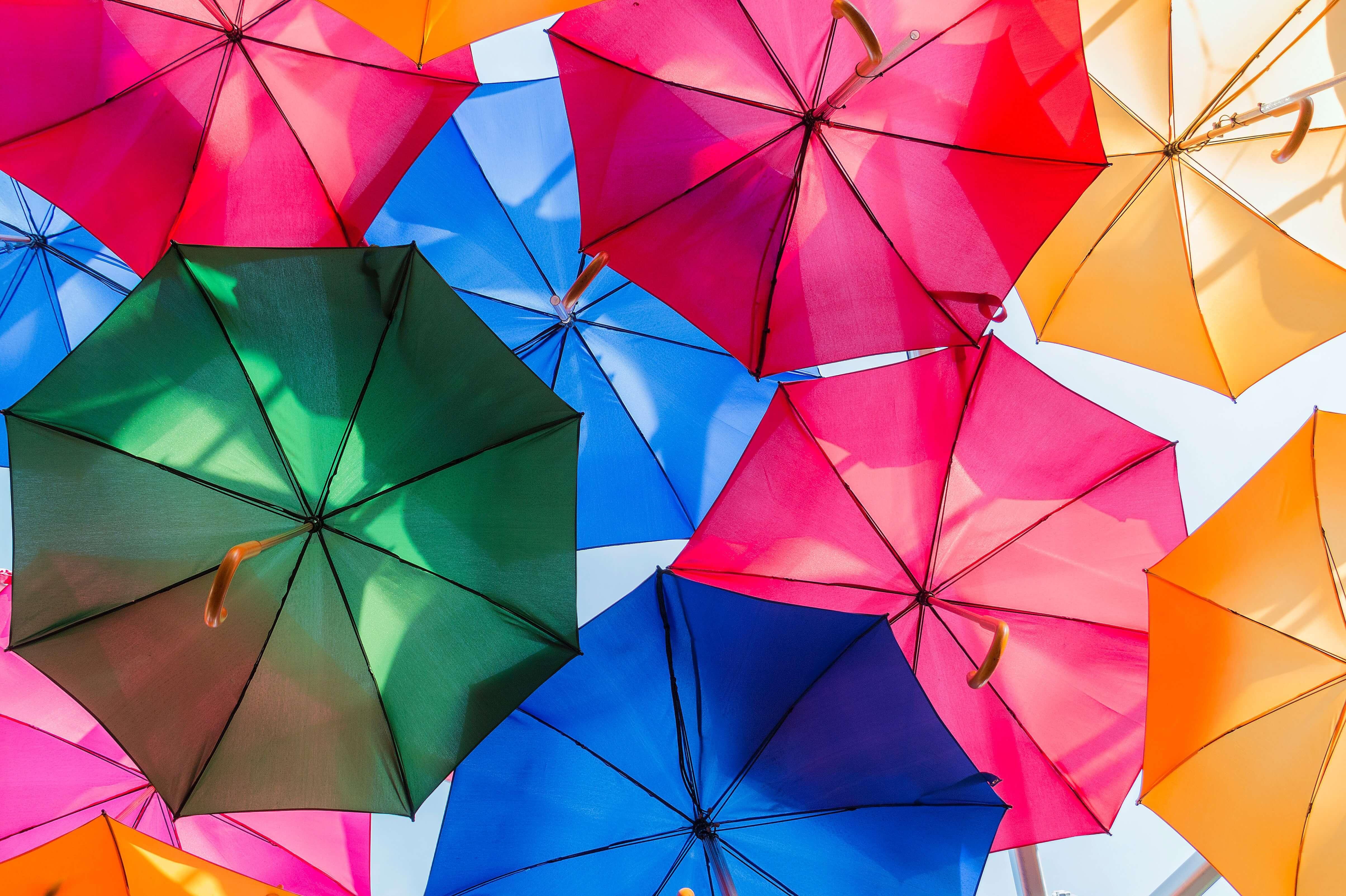 傘 カラフル