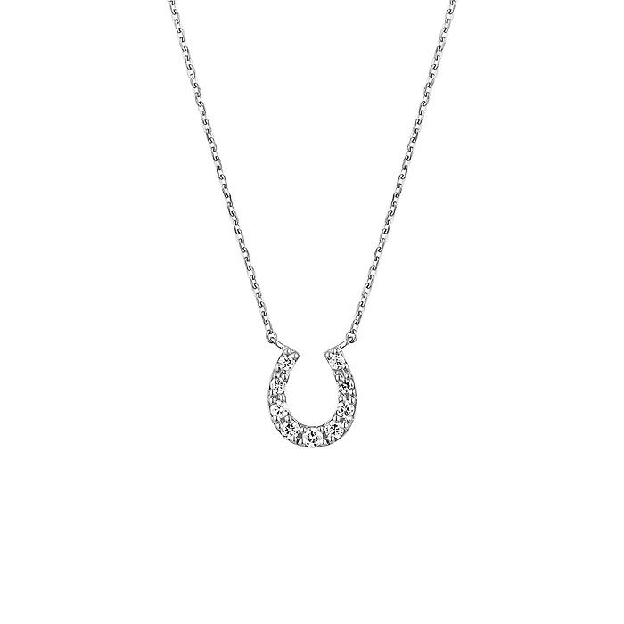 4℃ダイヤモンドの馬蹄モチーフネックレス