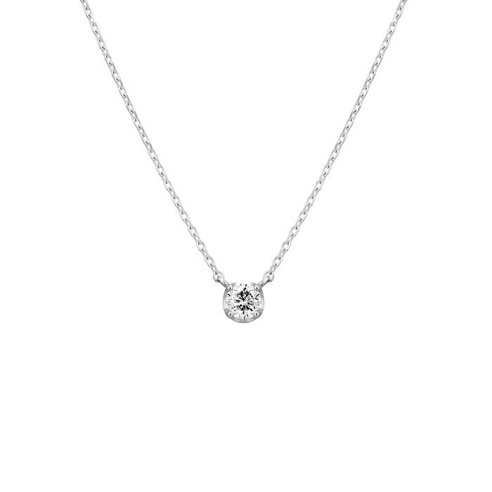 4℃一粒ダイヤモンドのネックレス
