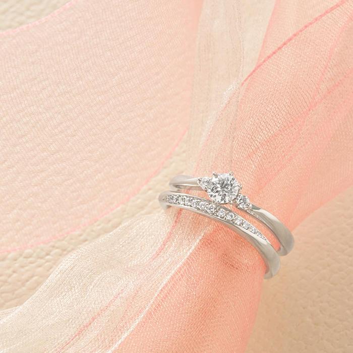 4℃婚約指輪と結婚指輪