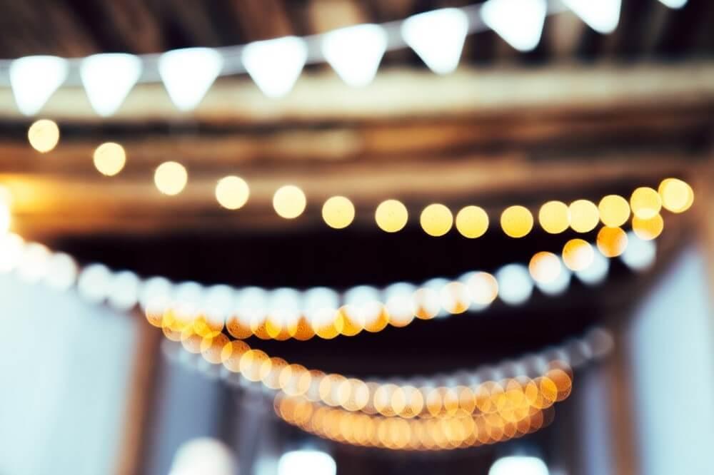 キラキラと光るライトデコレーション