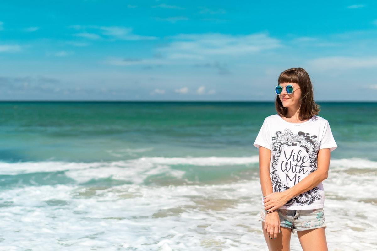 海辺ファッションスタイル