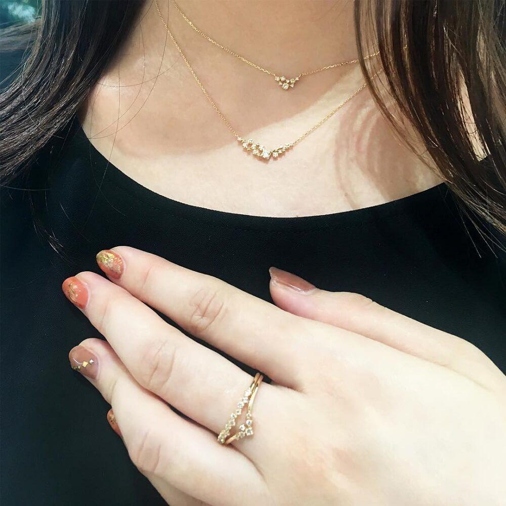4℃の指輪とネックレス