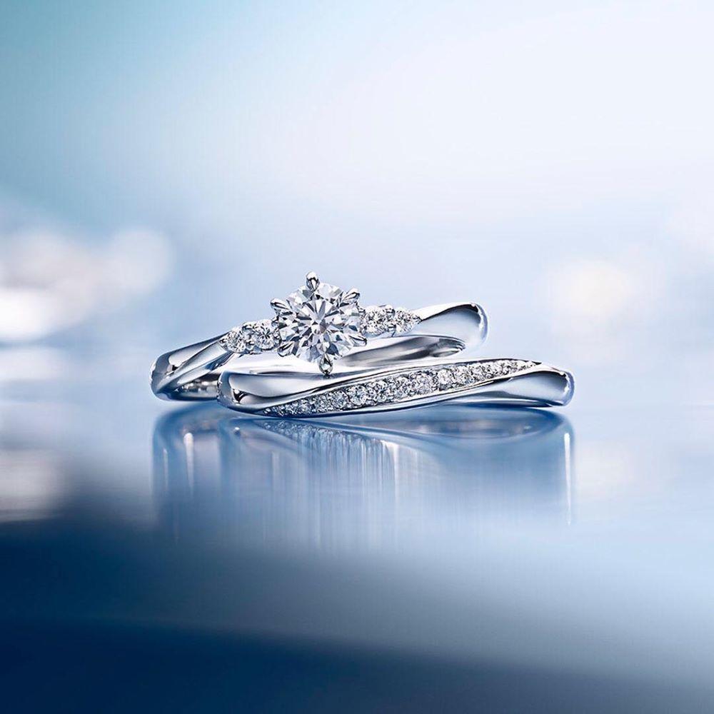ダイヤモンドの4℃ブライダルリング