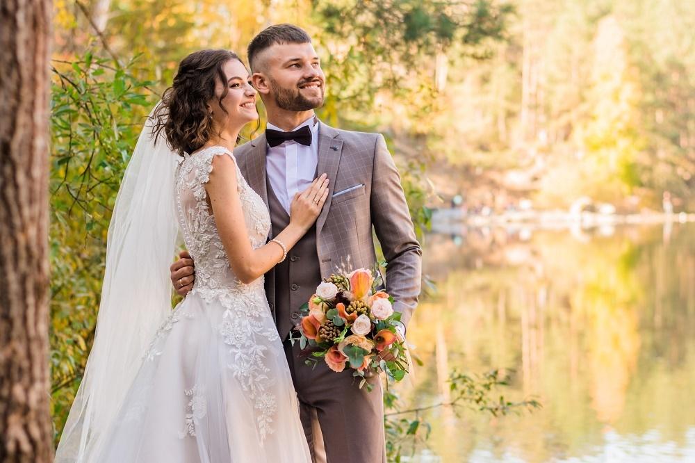 無事に結婚式の日を迎えた夫婦