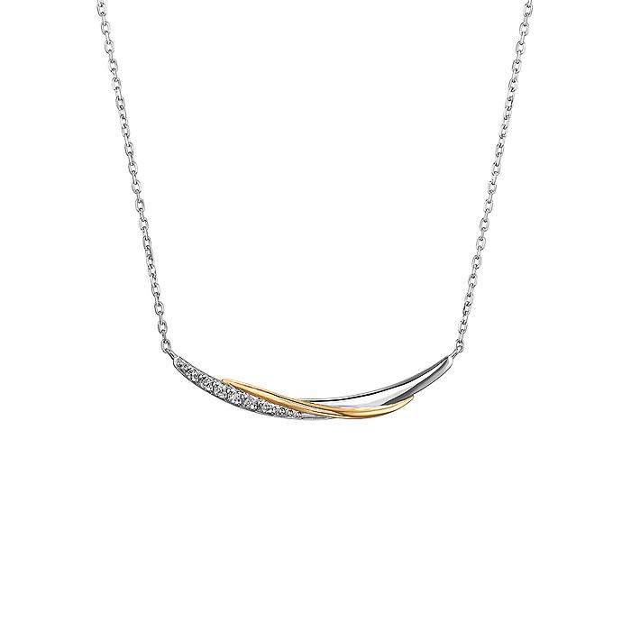 プラチナ/K18イエローゴールド ネックレス