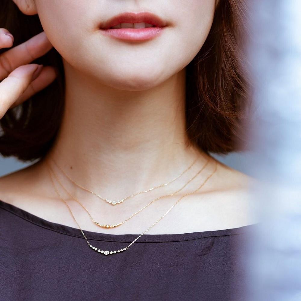 4℃プレゼントのダイヤモンドネックレス