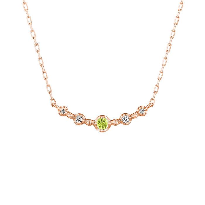 【8月誕生石】 K10ピンクゴールド ネックレス