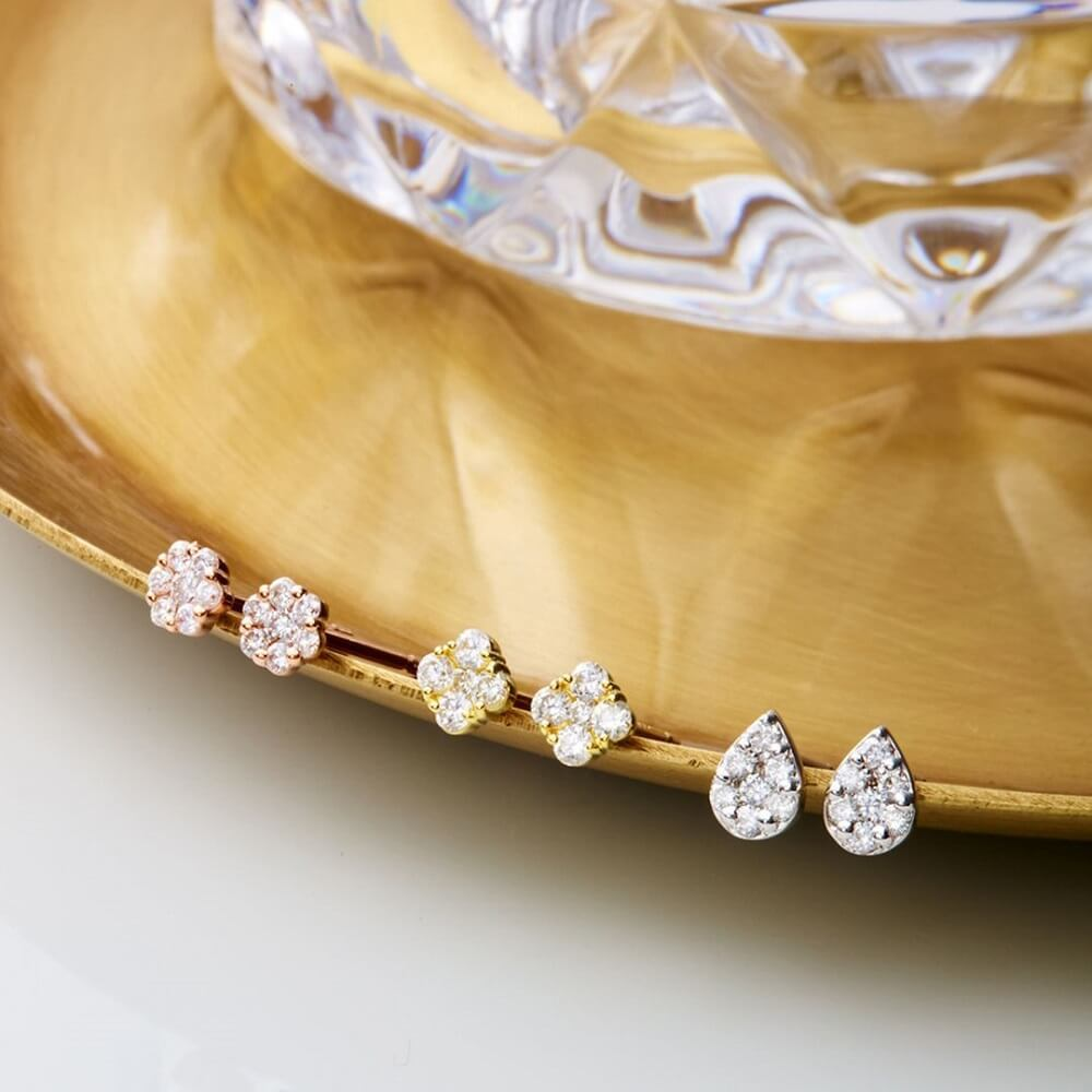4℃のご褒美ダイヤモンドピアス