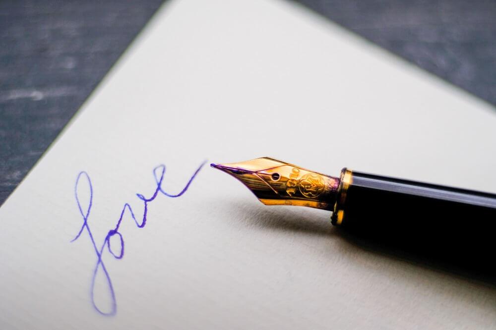 メッセージを書いたペン