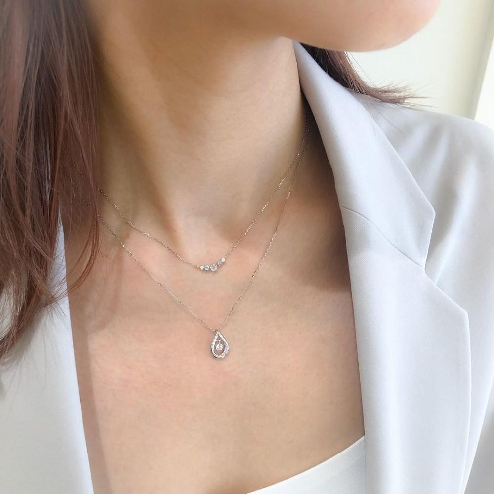 4℃のご褒美ダイヤモンドネックレス