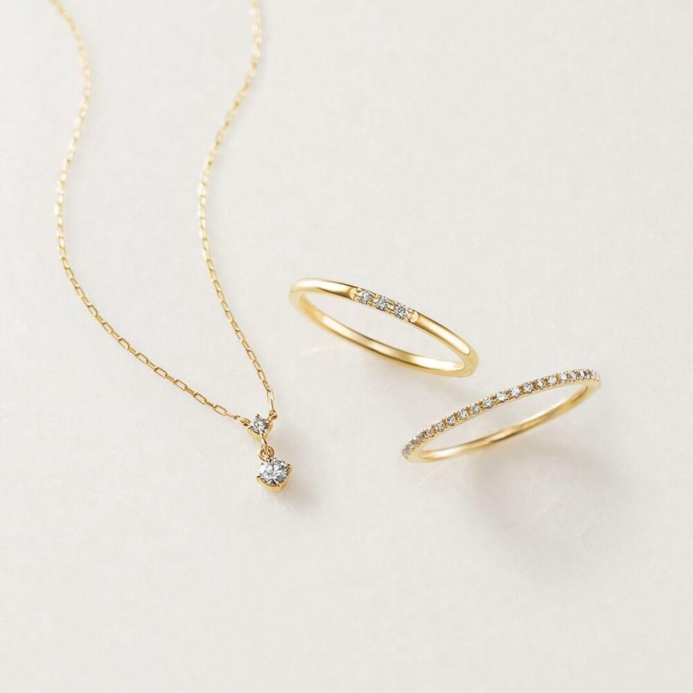 4℃のダイヤモンドネックレスとリング