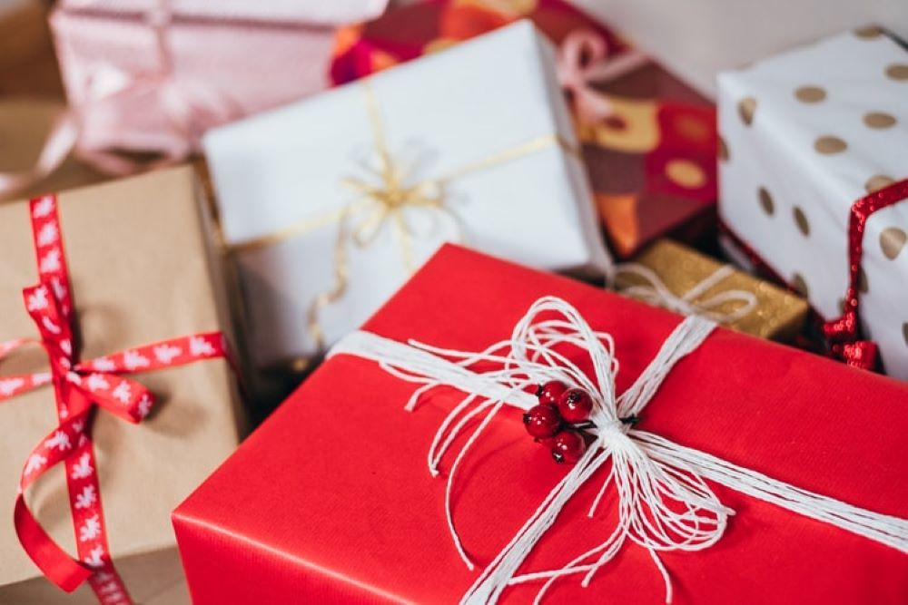 クリスマス用のギフトボックス