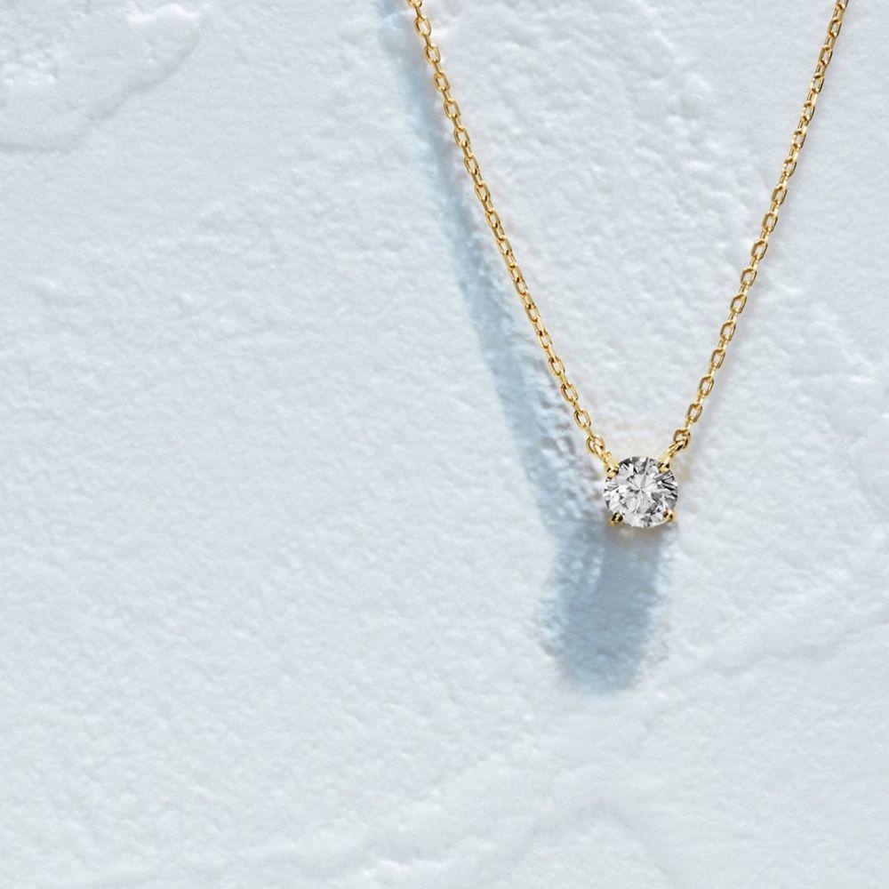 4℃の一粒ダイヤモンドネックレス