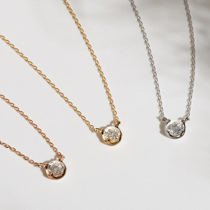 K18ピンクゴールド ネックレス