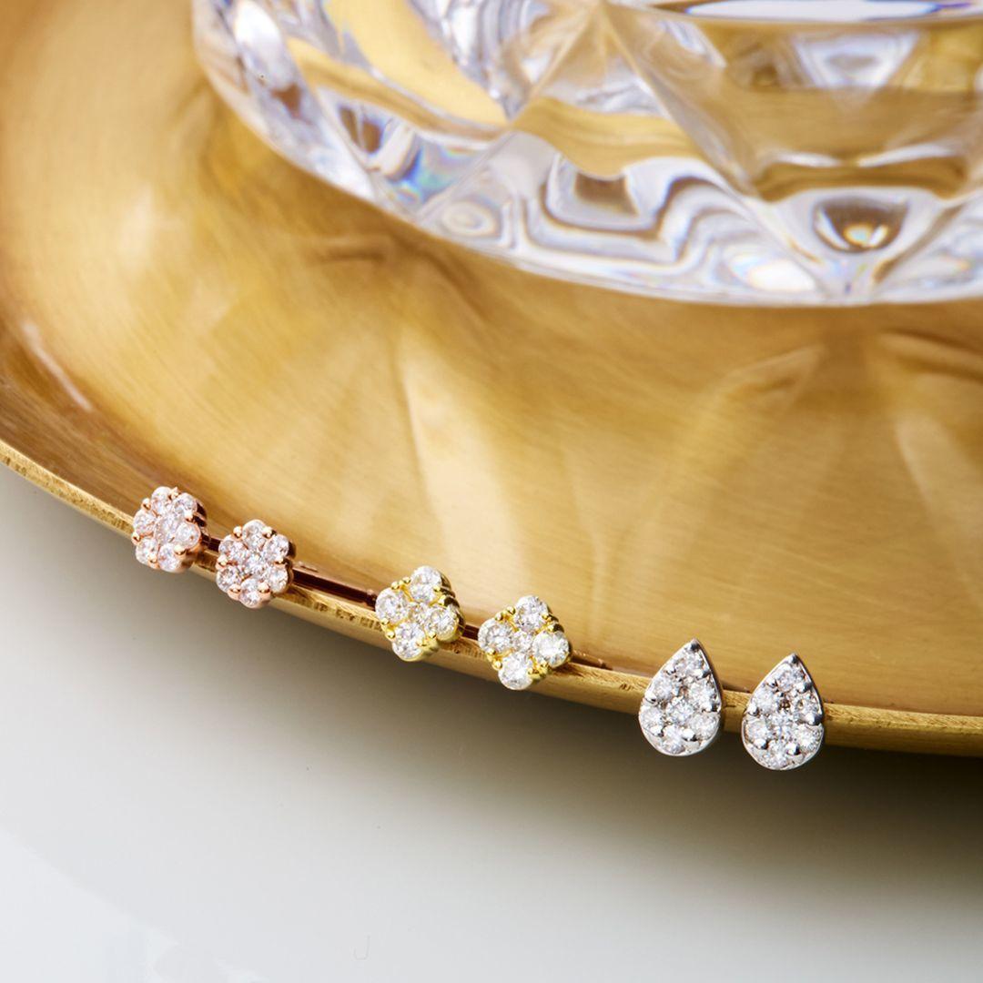 4℃のダイヤモンドピアス