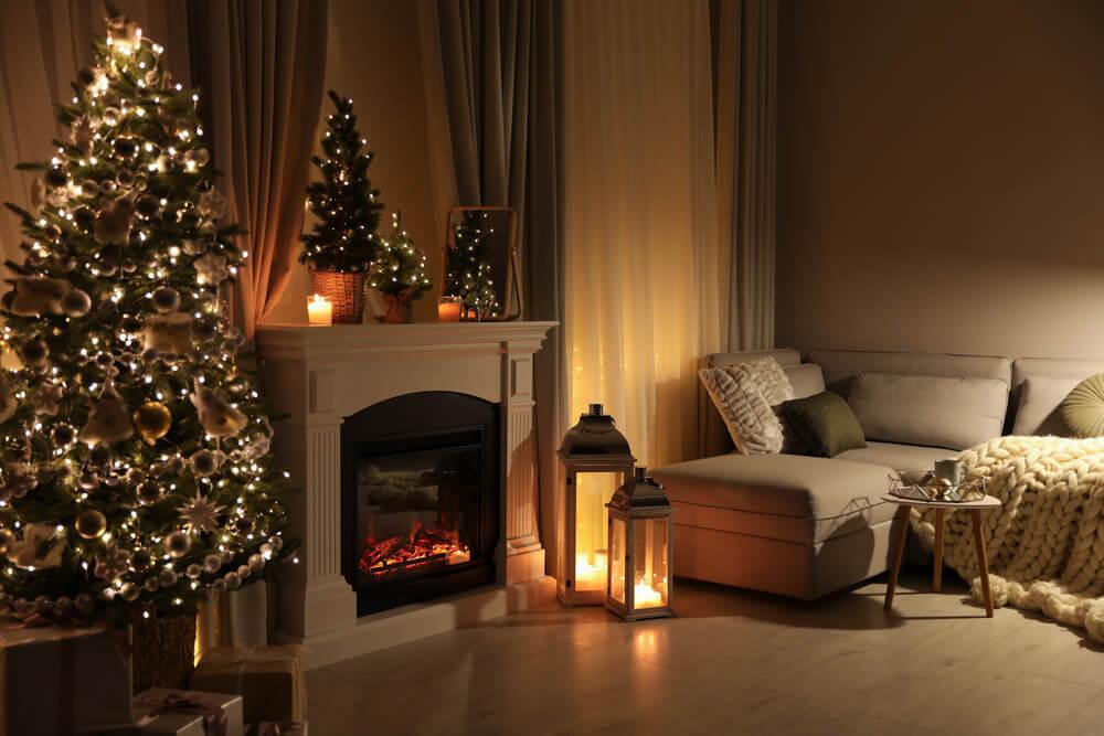 クリスマス仕様の部屋